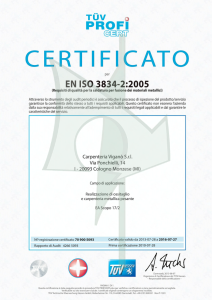 certificato carpenteria viganò
